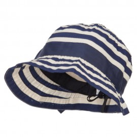 Girl's Spiral Design Bow Bucket Hat