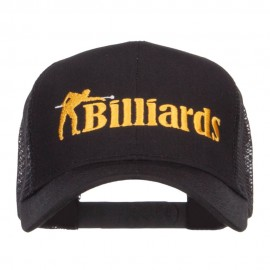 Billiards Embroidered Trucker Cap