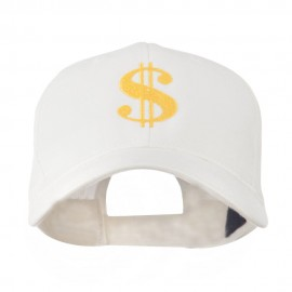 Dollar Sign Logo Embroidered Cap - White
