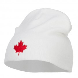 Canada Maple Leaf Embroidered Short Beanie