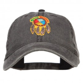 Dream Catchers Patched Washed Cap - Black