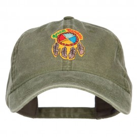 Dream Catchers Patched Washed Cap - Olive Green