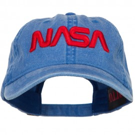 3D NASA Letter Logo Embroidered Washed Buckle Cap