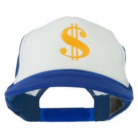 Dollar Sign Logo Embroidered Foam Mesh Back Cap