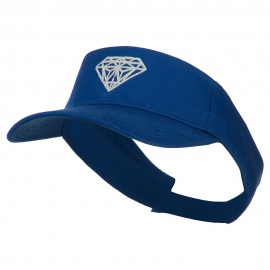Diamond Embroidered Cotton Twill Sun Visor - Royal