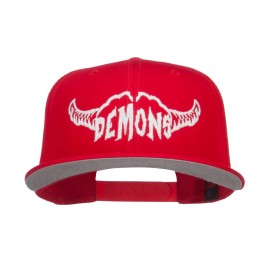 Demons Embroidered Cotton Snapback