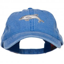 Dolphin Wild Animal Patched Washed Cotton Twill Cap