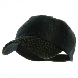 Diamond Plate Washed Cotton Cap - Navy Denim