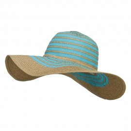 Paper Braid Striped Floppy Hat
