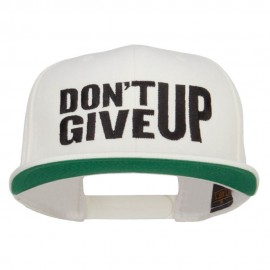 Don't Give Up Embroidered Snapback Cap