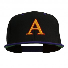 3D Puff Letter A Embroidered Snapback Cap