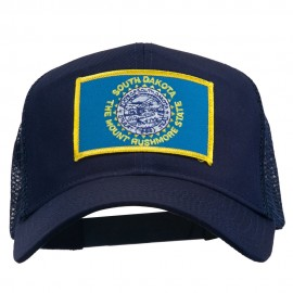 South Dakota Flag Patched Mesh Cap
