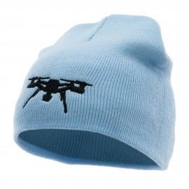 Drone Embroidered 8 inch Acrylic Short Beanie