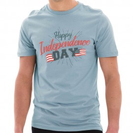 Happy Independence Day Graphic Design Deluxe Jersey T-Shirt