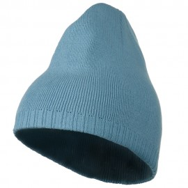 Decorative Ribbed Short Beanie