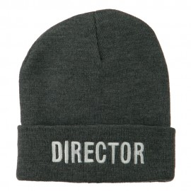 Director Embroidered Long Beanie