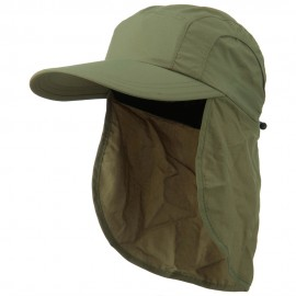 Mens UV 50+ Drawstring Flap Cap