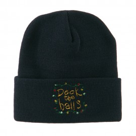 Deck the Halls with Lights Embroidered Beanie