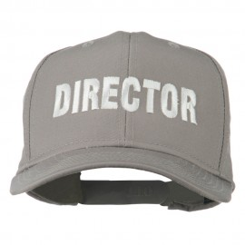Director Embroidered Cotton Twill Cap