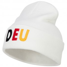 Germany DEU Flag Embroidered Long Beanie
