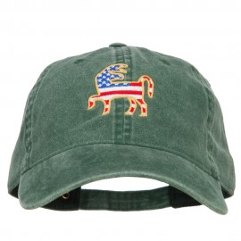 Donkey USA Flag Embroidered Washed Buckle Cap