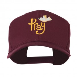 Wording of Pray with Dove Embroidered Cap