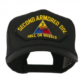 US Army Division Military Large Patched Cap - Second Armored