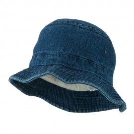 Youth Denim Washed Bucket Hat - Dark Blue