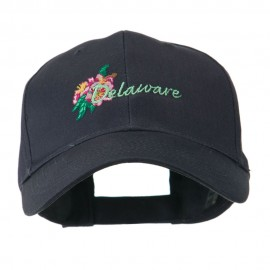 USA State Flower Delaware Peach Blossom Embroidered Cap