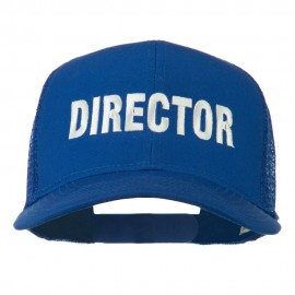 Director Embroidered Mesh Back Cap