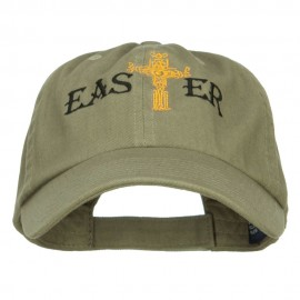 Easter Cross Embroidered Low Cap