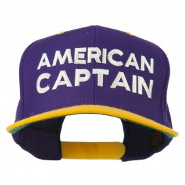 American Captain Embroidered Snapback Cap