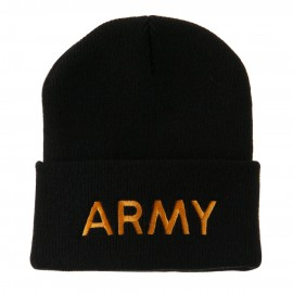 Military Embroidered Beanie