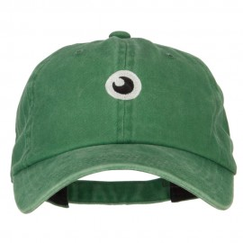 Monster Eye Ball Embroidered Unstructured Cotton Cap