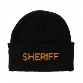 Military Embroidered Beanie - Sheriff