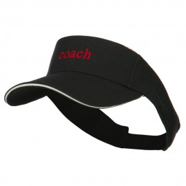 Coach Embroidered Athletic Mesh Visor