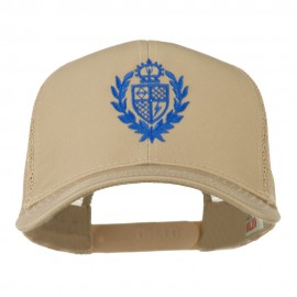 Crest Emblem Embroidered Mesh Back Cap