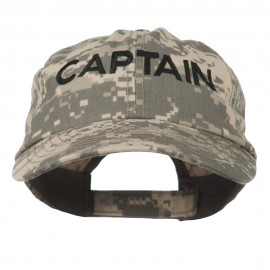 Captain Embroidered Enzyme Washed Camo Cap
