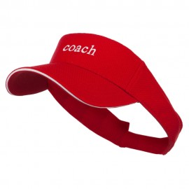 Coach Embroidered Athletic Mesh Visor - Red