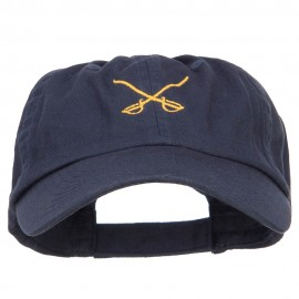 Crossed Swords Embroidered Low Cap