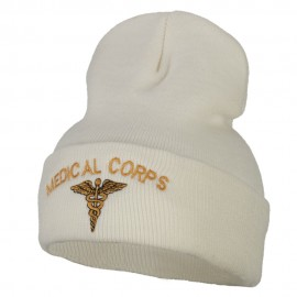 Medical Corps Embroidered Long Knitted Beanie