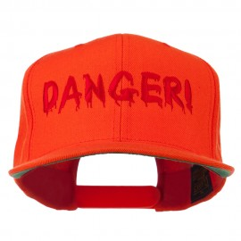 Danger Embroidered Snapback Cap