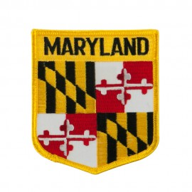 Eastern State Flag Embroidered Patch Shield - Maryland
