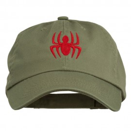 Halloween Spider Embroidered Pet Spun Washed Cap