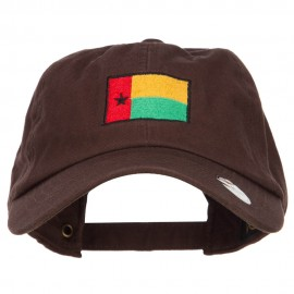Guinea Bissau Flag Embroidered Unstructured Cap