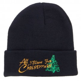 All I Want For Christmas Embroidered Beanie