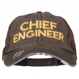 Chief Engineer Embroidered Low Profile Cotton Mesh Cap