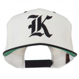 Old English K Embroidered Flat Bill Cap