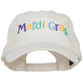 Mardi Gras Letters Embroidered Cotton Cap