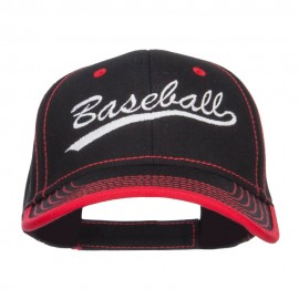 Baseball Embroidered Cotton Structured Cap